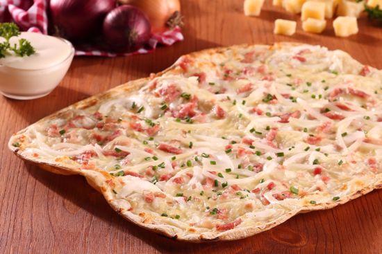 Flammkuchen Premium, Speck, Zwiebel & Käse, Snack